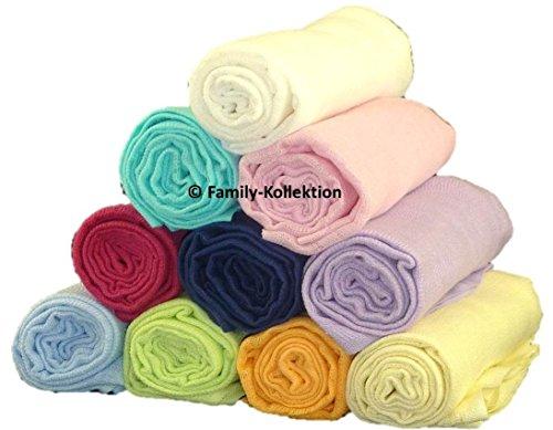 Family-Kollektion 6er Pack Mullwindeln bunt I hautfreundliches & angenehm weiches Schmuse-Tuch I Spucktücher Baby aus 100% Baumwolle I 6 Stück Baumwoll-Tücher 70 x 80 cm (6er freie Farbwahl)