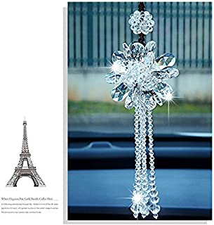 Duosuny Hanging Chandelier Crystals Ball Prisms Fengshui Suncatcher Rainbow Pendant Maker Car Charm(Clear)