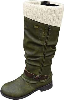 Botas de hombre largas occidentales por debajo de la rodilla estilo Caballero botas Vintage Hombre invierno botas de vaquero occidental Retro largo