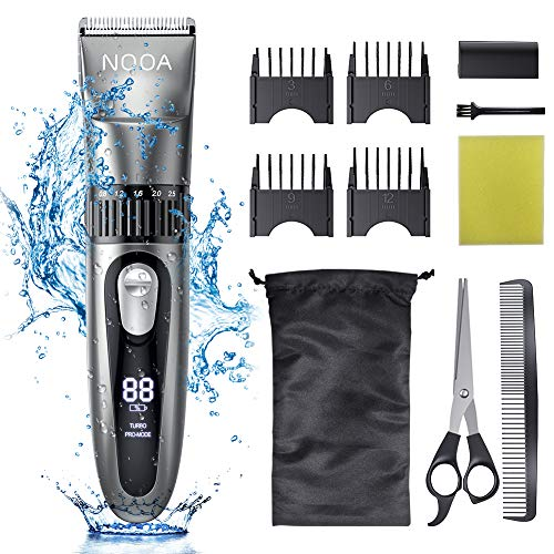 NOOA Hair Clippers Cordless Hair Trimmer Men's Beard Trimmer Complete Haircut Grooming Kit Hair Cutting Kit for Men, Women & Kids Rechargeable