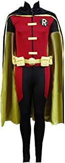 TISEA Mens Halloween Cosplay Costume with Cape Pants
