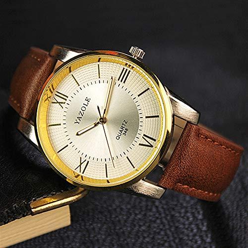 FENKOO Schöne Armbanduhren 348 YAZOLE Herrenuhr Uhr Herren Quartz Skin (Color : 3)