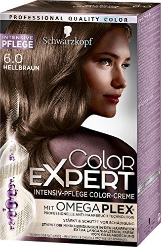 Schwarzkopf Color Expert Intensiv-Pflege Color-Creme 6.0 Hellbraun, 3er Pack (3 x 167 ml)