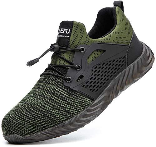 Zapatos de Seguridad Hombres Zapatos de Acero con Punta de Seguridad,Botas de...