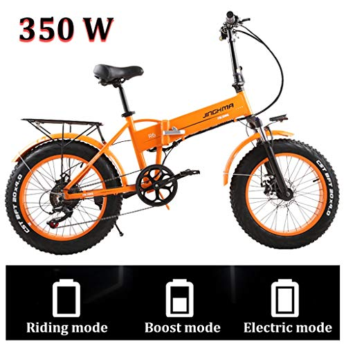 20'' Electric Mountain Bike for Adult Fat Tire Bicycle with Large Capacity Lithium-Ion Battery (48V 350W) E-Bike 21 Speed Gear and Three Working Modes (Color : 350W, Size : 8Ah)