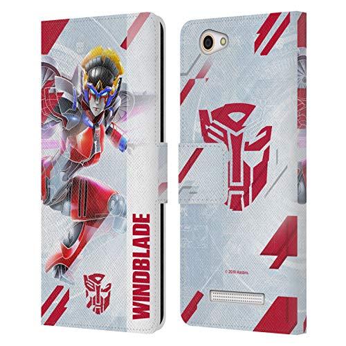 Head Hülle Designs Offizielle Transformers Windblade Autobots Schlussel Kunst Leder Brieftaschen Handyhülle Hülle Huelle kompatibel mit Wileyfox Spark X