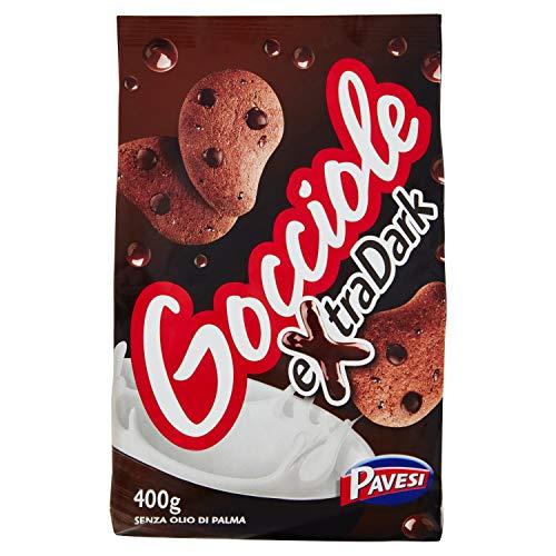 Pavesi Biscotti Frollini Gocciole Extra Dark con Cioccolato Fondente, 400g