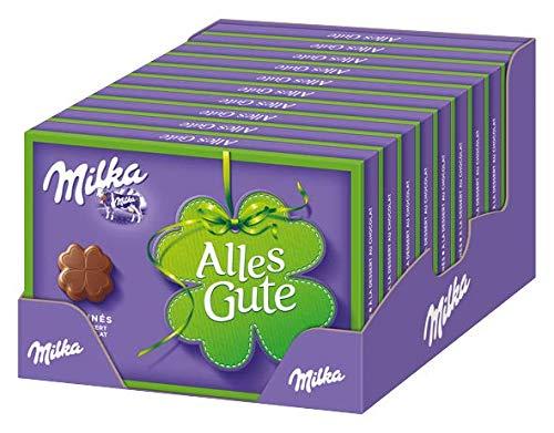 Milka Alles Gute Pralinen - Feine Pralinés aus Alpenmilchschokolade mit Kakaocrèmefüllung - 10 x 110g