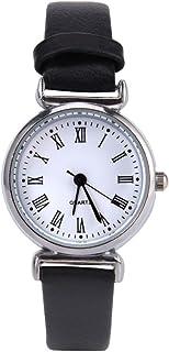 Reloj de pulsera para mujer, exquisito vestido de moda simple, reloj retro de piel