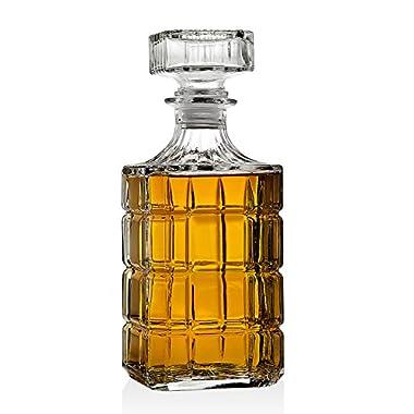 Whiskey Decanter for Scotch Liquor Bourbon or Wine - 750ml