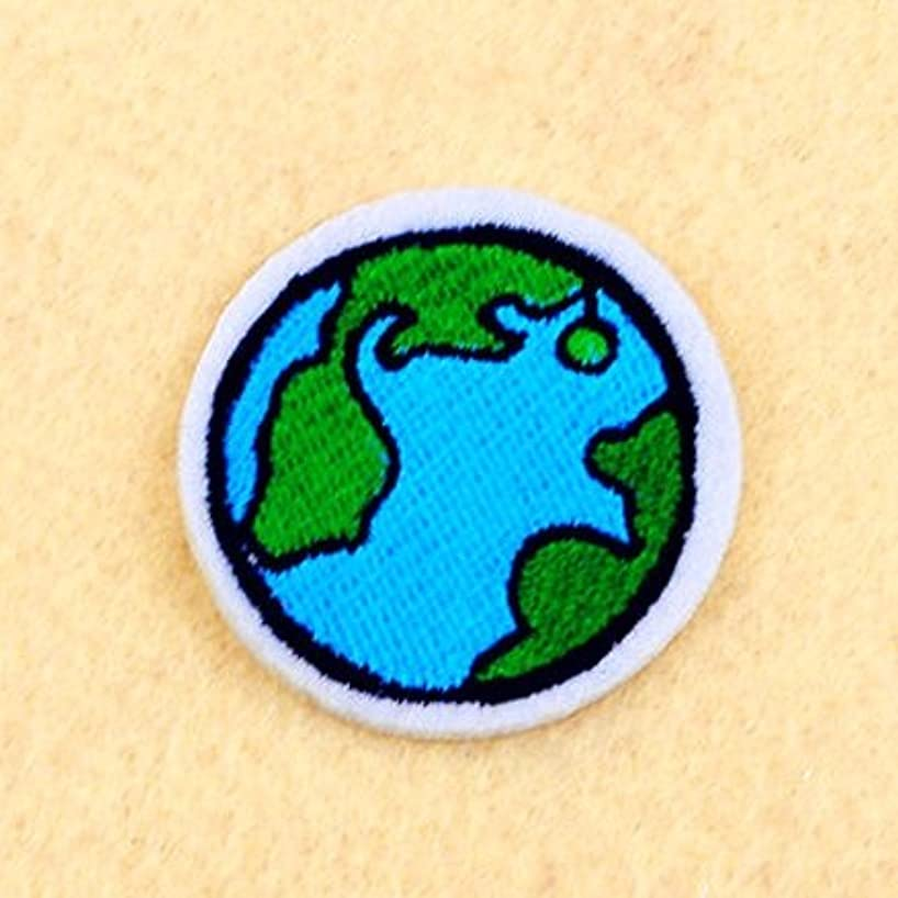 3 Earth Patch Iron on patch Embroidered Patch (Size 4.3cm x 4.3cm) R023