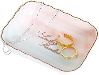 طبق خزفي مجوهرات على شكل خاتم هدية زفاف للعروس مكتب إكسسوارات مجوهرات تخزين منظم طبق