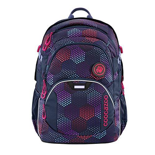coocazoo Schulrucksack JobJobber Purple Illusion, lila, ergonomischer Tornister, höhenverstellbar mit Brustgurt und Hüftgurt für Mädchen ab der 5. Klasse, 30 Liter