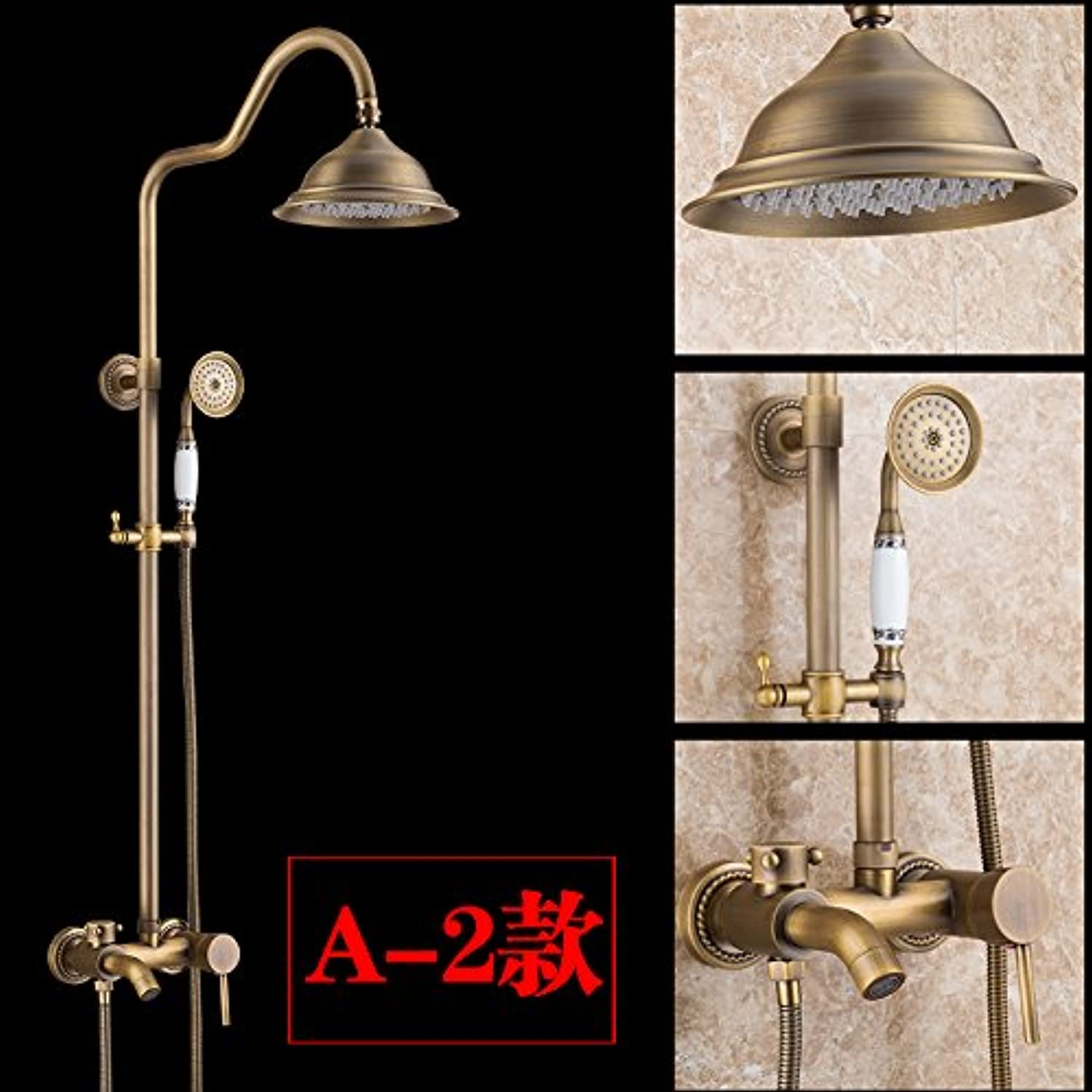 Commercial Bathroom Sink Taps Hlluya Professional Sink Mixer Tap Kitchen Faucet Antique-brass antique Bath Faucet Kit double-tap the hot and cold shower bath shower faucet Style 3 Janitorial & Sanitation Supplies