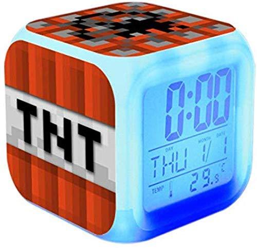 Digitale alarmklokken LED nacht gloeiende kubus met licht kinderen wakker nachtkastje, verjaardagscadeaus schattig alarm Touch licht kind voor kinderen volwassen slaapkamer