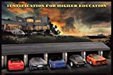 Pyramid America Justification for Higher Education Classic Supercars Funny Cool Wall Decor Art Print Poster 18x12
