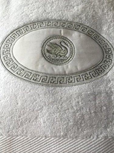 Flair Handtuch Schwan Bestickt Badezimmer edel weiß Baumwolle 50x90cm