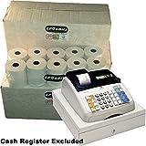 EPOSBITS® Marca 60 rollos de recibos – 3 cajas para caja registradora Olivetti ECR 7100 ECR7100