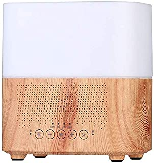 Zenghh Air Humidifier Intelligent Clock Bluetooth Audio Aromatherapy Machine Colorful Ultrasonic Wood Grain Breath Clean Fresh Humidifier Large Capacity Home Living Room (Color : Light Wood Grain)