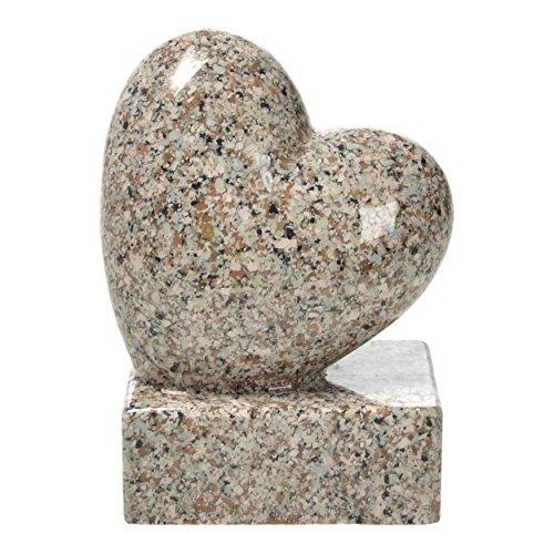 pajubo Tomba di Decorazioni-Cuore in Presa Altezza 17,5cm Resina Sintetica Replica di Granito - Bainbrock Braun