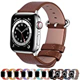 Fullmosa kompatibel mit Apple Watch Armband 44mm 42mm 40mm 38mm Series SE/6/5/4/3/2/1, Leder...