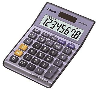 Casio MS-80VERII - Calculadora básica, 30.7 x 103 x 145 mm, color azul