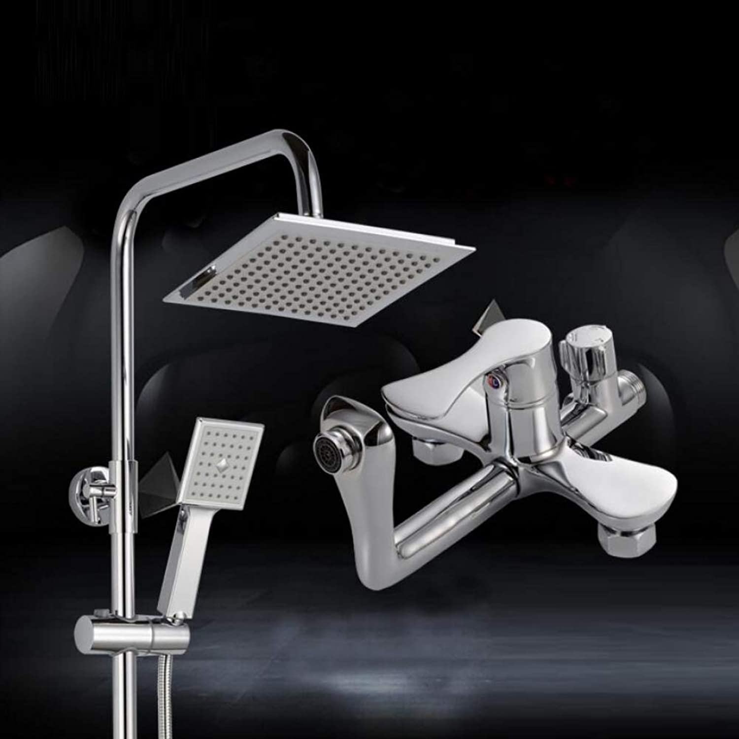 LWUDI Shower Systems with Rain Handheld, Bathroom take a shower Set,can Lift Shower all bronze Faucet Quartet Third gear Large shower Showerheads,handheld shower head with filter