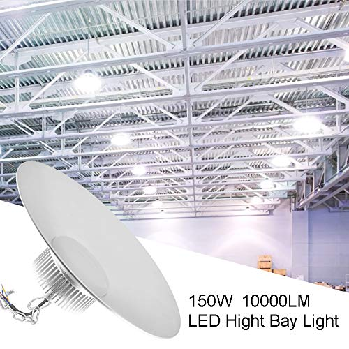 150W Proiettore Faretto LED ultra sottile del magazzino del LED di illuminazione, 10000LM IP54 impermeabile Shop e workshop garage interno Lights Fixtures
