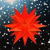 Weihnachtsstern, Adventsstern, original Herrnhut, für Außen, Kunststoff, 40 cm, mit Beleuchtung, Stern, Sterne, Weihnachtssterne, Adventssterne, original Herrnhuter Stern, rot