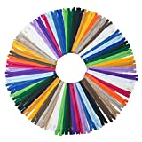 YAKA 60pcs 9 Inch Nylon Coil Zippers Sewing Zippers for Tailor Sewing Crafts (20 Color)
