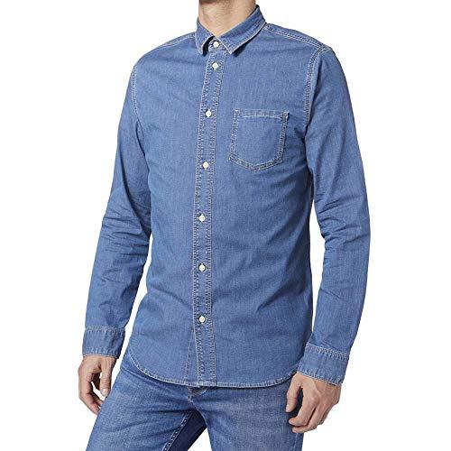 Pepe Jeans Portland Camisa, Azul (Medium Used 000), Hombre