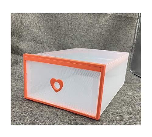 NAXIAOTIAO Zapatero Pequeño, Cajón Caja De Zapatos De Plástico, Caja Artículo Almacenamiento Niño, Organizador En La Entrada, Resistente A La Humedad, Inodoro (3 Piezas),Naranja