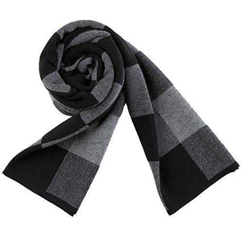 JUAN Fashion coton noir homme écharpes d'hiver - Noir - Taille unique
