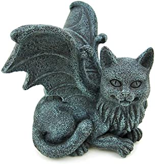 Pacific Trading Winged Cat Gargoyle Computer Topper Shelf Sitter Statue