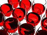 1art1 Cuisine Poster Papier Peint - Verres De Vin Rouge, 4 Parties (360 x 255 cm)