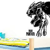 zqyjhkou Black Panther Vinyl Wandaufkleber Wandtattoos Für Kinderzimmer Dekoration Zubehör...