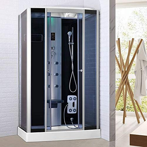 Bagno Italia Box idromassaggio 120X80 cabina doccia multifunzione bluetooth cromoterapia ozonoterapia