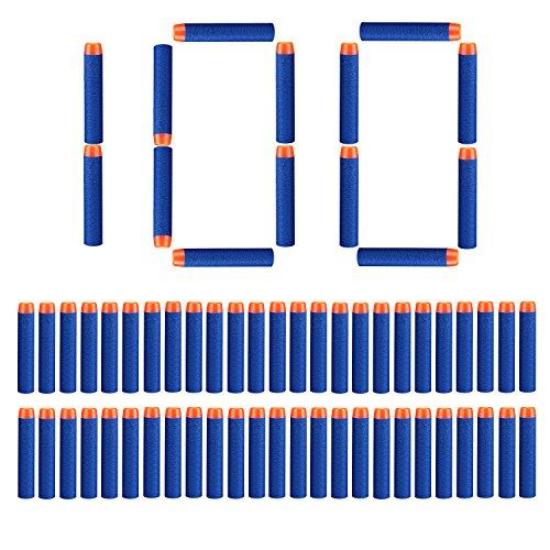 StillCool Nerf Darts Proiettile Freccette Foam Darts 100 Dardi Universili di Schiuma 7,2 cm for Nerf N-Strike Elite Series