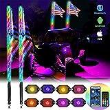 OHMU 2Pcs 4FT LED Whip Lights and 3rd-Gen Rock Lights...