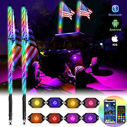 OHMU 2Pcs 4FT LED Whip Lights and 3rd-Gen...