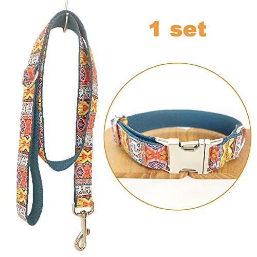 TVMALL Collar de Perro Ajustable para el Aire Libre, para Mascota, Correa, Cuerda, Collar Estilo Bohemio, para Perros medianos y pequeños