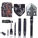 Otplore Folding Tactical Camping Shovel - Heavy Duty Compact Multitool Military Survival Shovel for...