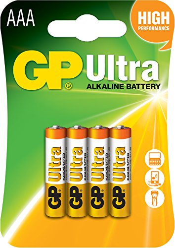 GP Piles alcalines Ultra compatible AAA/AM4/E92 1,5V
