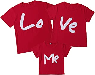 Valentine's Day Clothes Daddy Mommy and Me Family Matching T-Shirt Love Me Tee Tops