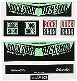 Ecoshirt EE-QRZM-P1AJ Pegatina Sticker Shock Rock Shox Monarch Plus Rc3 Am203 Aufkleber Decals Autocollants Amortiguador MTB Downhill, Menta
