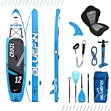 Bluefin Cruise SUP Board Set | Aufblasbares Stand Up Paddle Board | 6 Zoll Dick | Fiberglas Paddel |...