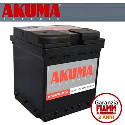 Batteria Auto Akuma = Fiamm 44 Ah Cubetto 12V 390A En Originale