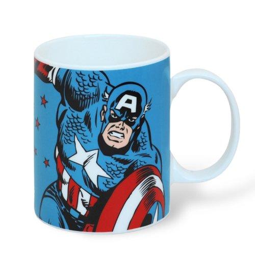 CAPTAIN AMERICA Marvel Comics Mug Fantasse Kaffeetasse LOGO
