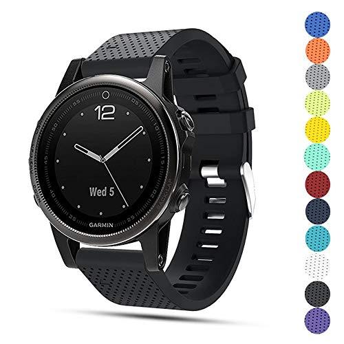 TOPsic Garmin Fenix 5S Armband - Silikon Sportarmband Uhr Band Strap Ersatzarmband Uhrenarmband für Garmin Fenix 5S Smartwatch GPS-Multisportuhr