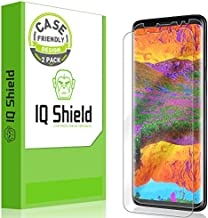 IQ Shield Screen Protector Compatible with Galaxy S9 Plus (2-Pack)(Case Friendly) Anti-Bubble Clear Film